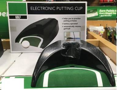 Golf putting cup electronic training and practise