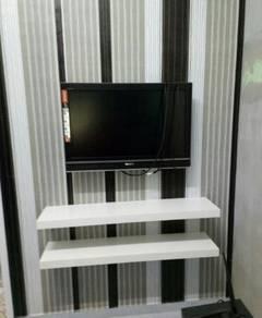 Bracket TV siap pasang - Melaka Town.