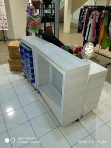 Shoes Storage Rack With Stopper Roller Boltless
