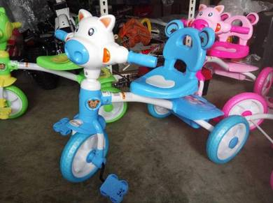 Kids cow trycycle blue color