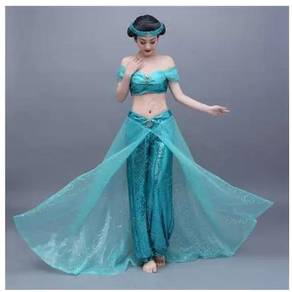 Aladdin Princess Jasmine sequin cosplay costume