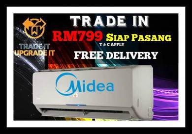 Aircond Offers Best Price 799 Midea Siap Pasang