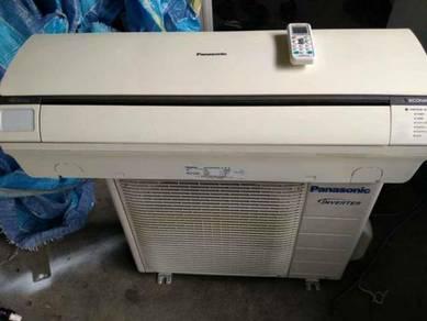 Panasonic inverter Aircond 1.5hp