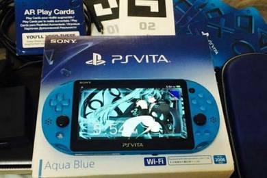 Sony ps vita my set aqua blue like new