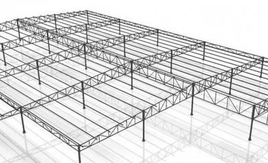 Steel frame structure design - 2D & 3D