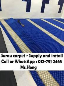 Mosque decor carpet we save you save karpet Surau8