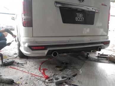 Toyota hiace rear skert