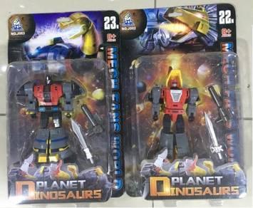 Robot toys vehicle kereta dinosaur
