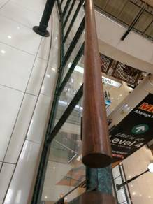 Round oval handrail natural wood Malaysia
