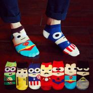 SUPERHERO CARTOON MARVEL DC SHOES SOCKS 🔥