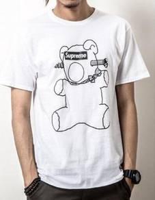 Japanese Supreme Bear White Short Sleeved T-Shirt
