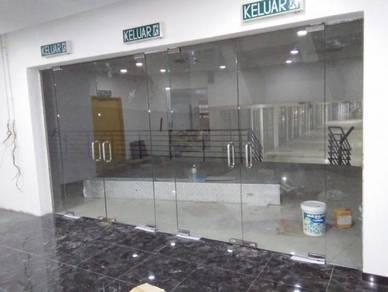 PINTU KALIS PECAH KACA l glass door 12mm