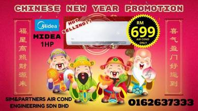 Midea Acson New Aircond *Best Promo Cny 699