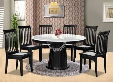 Round Dinning table set / meja makan bulat