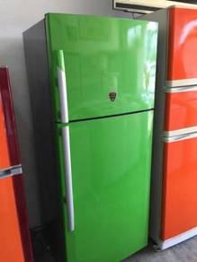 Green Daewoo Fridge Refrigerator Peti Sejuk Ais
