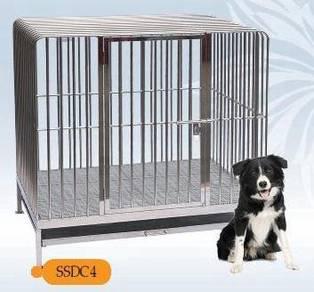 4x3ft Stainless Steel 304 Dog Cage - SSDC 4
