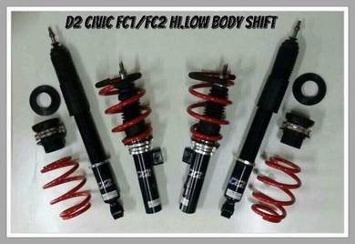 D2 adjustable hi/low bodyshift for civic fc