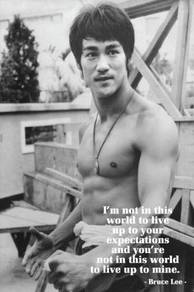 Poster BRUCE LEE B/W QUOTES BB