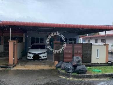 Single Storey End Lot Terrace House Taman Anggerik For Sale