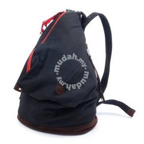 Black Brown Drawstring Basketball Backpack Bag