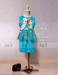 Frozen Anna Elsa 2pcs Peplum Mini Skirt set