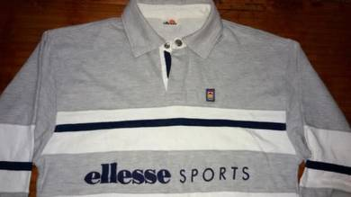 Vintage ELLESSE SPORTS 80's Saiz M Striped Rugby