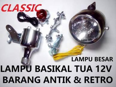 Lampu Basikal Antik Besar Dynamo 12v Barang antik