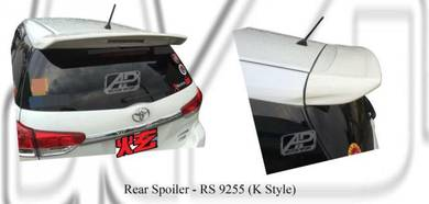 Toyota wish 2009 2017 K style roof top spoiler