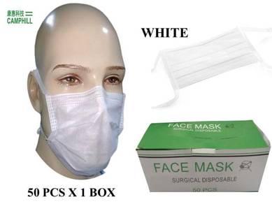 Disposable Tie On Non-woven Facemask White/Blue