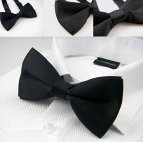 002 Black Professional Bow Tie Formal Business Tie