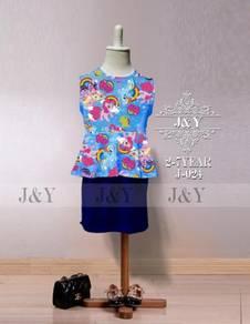 Little Pony 2pcs Peplum Mini Skirt set
