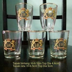 Pcol Gelas Queen Elizabeth Drinking Glass 1953