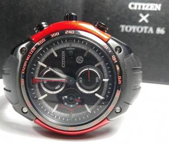 Citizen Toyota 86 Eco Drive Tachymeter B612-S0810