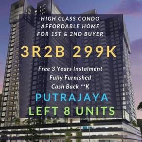 [Fully Furnished] 299K 3R2B Affordable Condo For All Buyer Putrajaya