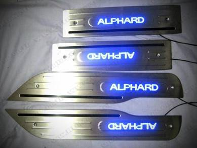 Alphard Vellfire 20 30 door side step led bodykit