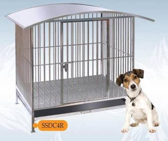4x3x4.5ft Stainless Steel Kennel with Roof SSDC 4R