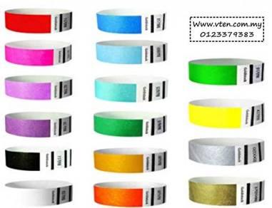 Custom made Tyvek Paper Wristband Paper Wristband
