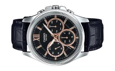 Casio Men Multi Hands Leather Watch MTP-E315L-1AVD