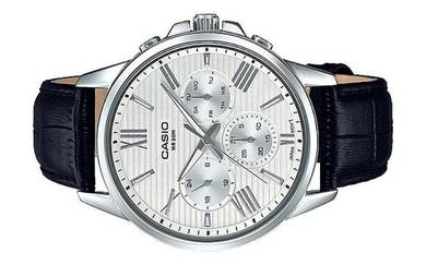 Casio Men Multi Hands Leather Watch MTP-EX300L-7AV