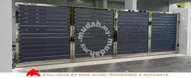 Gate stailess steel frame + aluminium panel