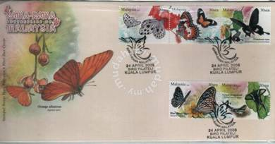 First Day Cover Booklet Butterflies Malaysia 2008