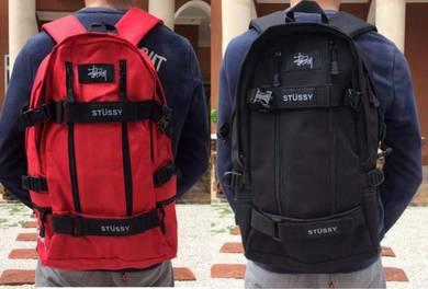 Backpack stussy bag laptop red black