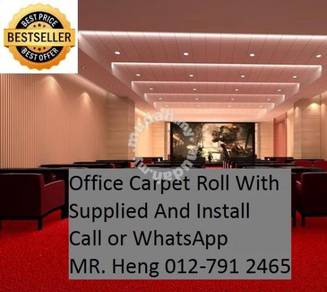 Natural Office Carpet Roll with install FR19