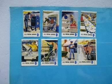 Set 1973 USA Stamps Postal Service Employees