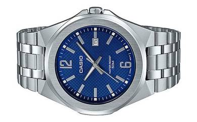 Casio Men Stainless Steel Date Watch MTP-E158D-2AV