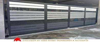 Gate rumah fully mild steel with powder coat paint