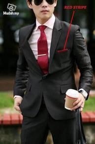 Korean Stylish Worsted Red Stripe Mens Blazer Coat