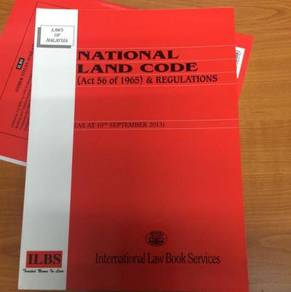 National Land Code (Act 56) Malaysia - CHEAP & NEW