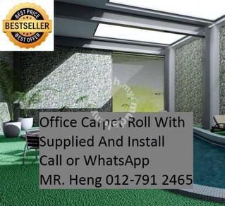Classic Plain Design Carpet Roll with Install TP17