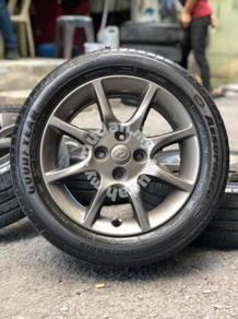 Original 15 inch sports rim alza advanced tyre 70%